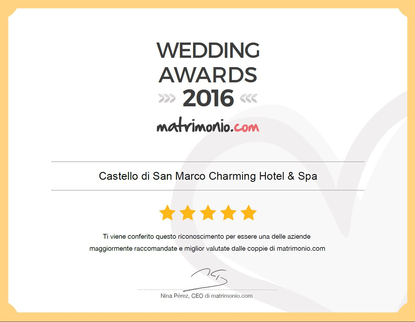 wedding awards sicilia 2016