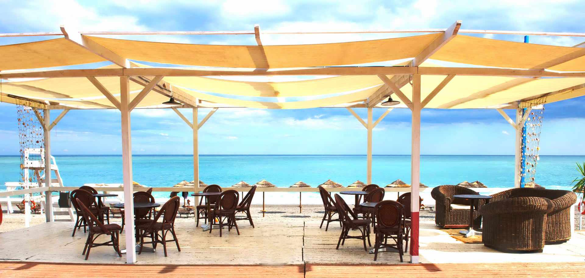 Sicily hotel on the beach