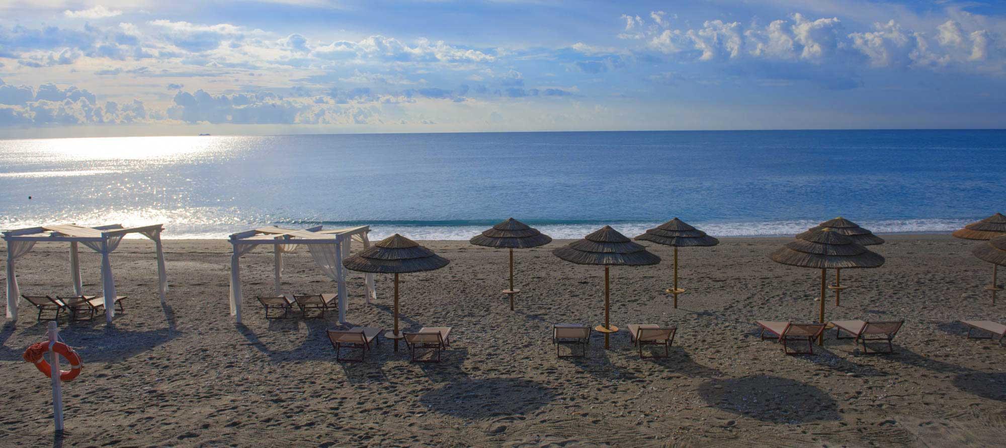Spiaggia privata con sabbia
